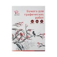 Бумага для графических работ в папке А4 15л 170 гр/м AF02-041-15